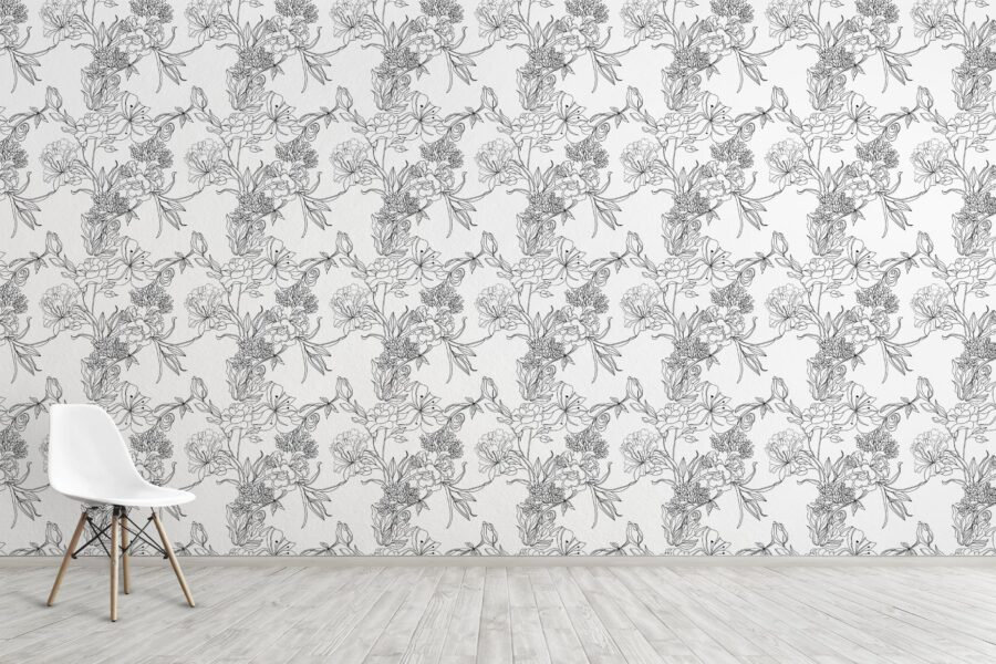 Transform Any Room In Your House With Removable Floral Wallpaper